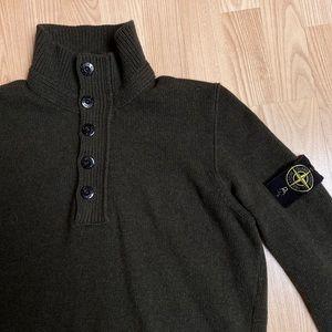 Authentic Stone Island Massimo Osti Green Sweater
